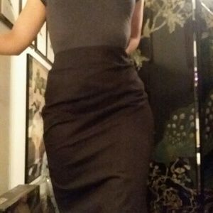 NWT Carmen Marc Valvo Pencil Skirt